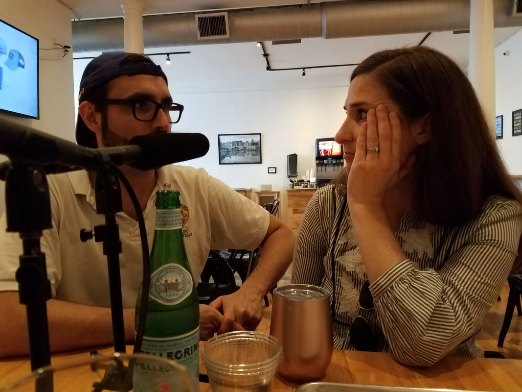 Philly's Rione Pizzeria being interviewed on the CoupleCo podcast for couple entrepreneurs
